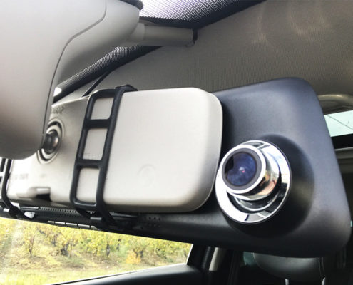 Mobilicam - aide a l'installation de la dashcam - camera embarquee retroviseur - disposition de la camera sur le retroviseur