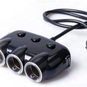 Adaptateur allume cigare - 3 sorties cigares et 2 sorties USB - Compatible avec les caméras embarquées et caméras voitures Mobilicam