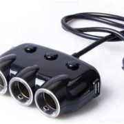 Mobilicam - Adaptateur allume-cigare - 3 sorties cigares et 2 sorties USB - Compatible avec les caméras embarquées - dashcams
