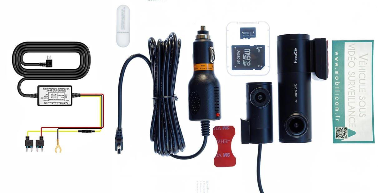 Contenu du colis Dashcam Pack Luxe Cyclocam - Mobilicam